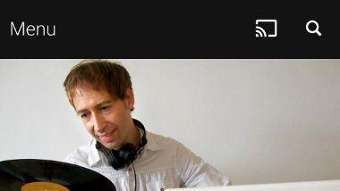 Menu label in BBC iPlayer Radio Android app