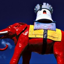 Elephant and Castle statue