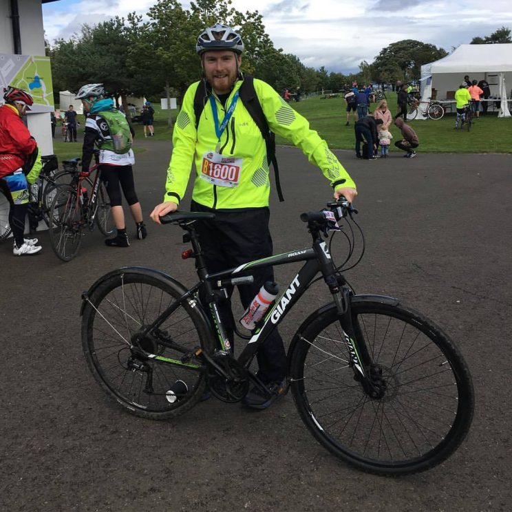 Me with my bike after Pedal for Scotland