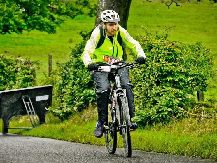 Me at Babbithill during Pedal for Scotland