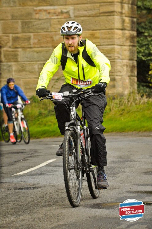 Approaching the final stretch at Pedal for Scotland