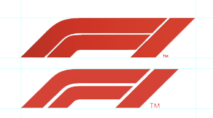 F1 logo inconsistencies