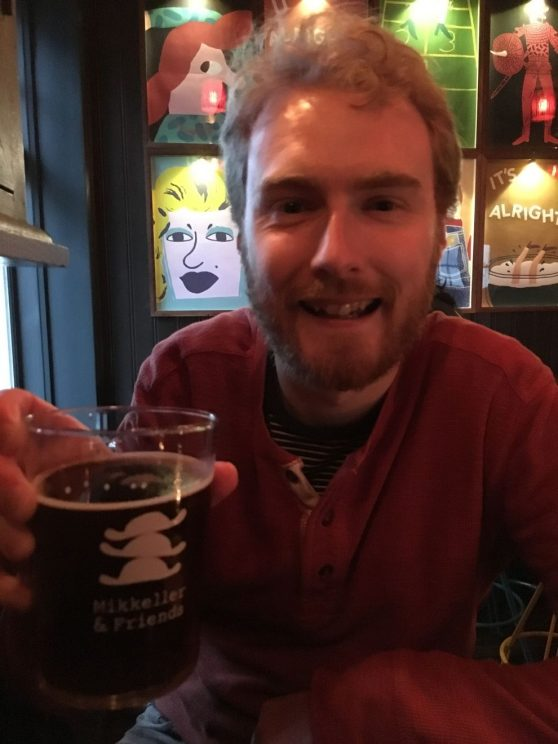 Drinking in Mikkeller and Friends bar