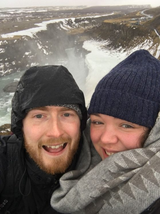 Me and Alex at Gullfoss