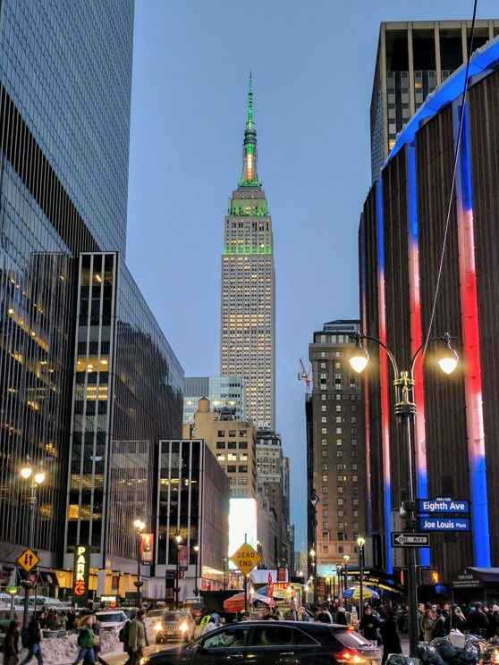 Empire State Building lit up for St Patrick's Day