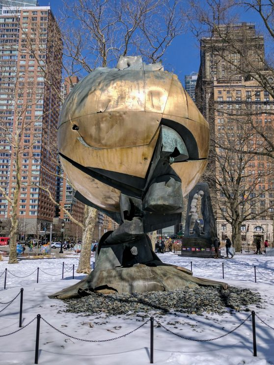 Remains of the Sphere at Battery Park