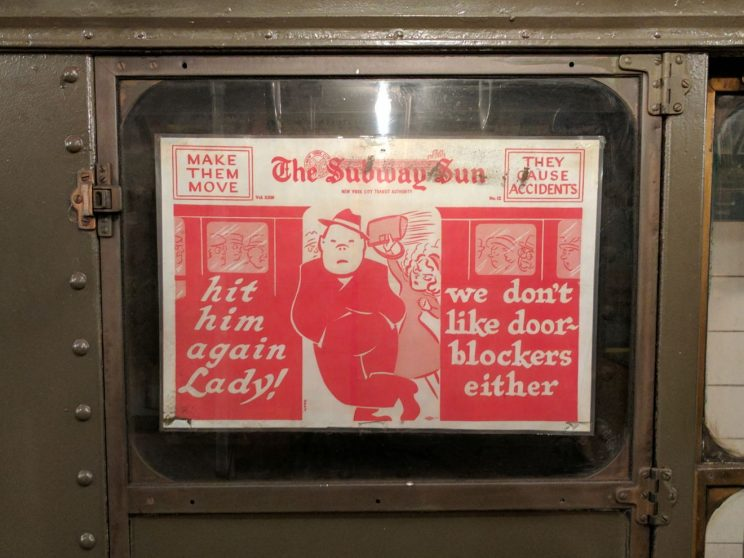 "Advert: ""hit him again Lady! we don't like door-blockers either"
