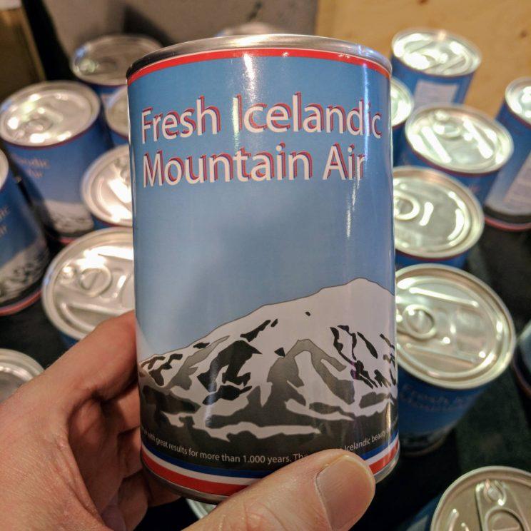 Can of Fresh Icelandic Mountain Air