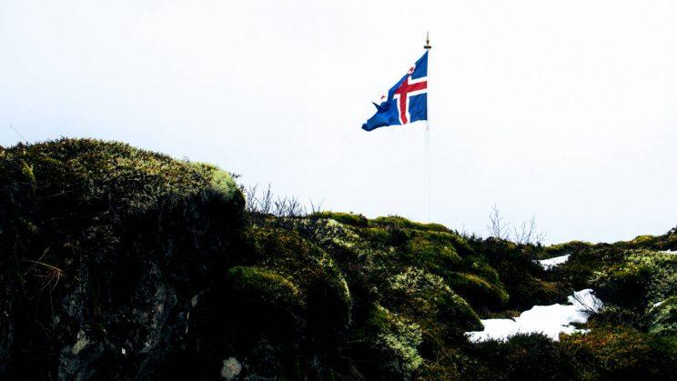 Icelandic flag at Þingvellir National Park
