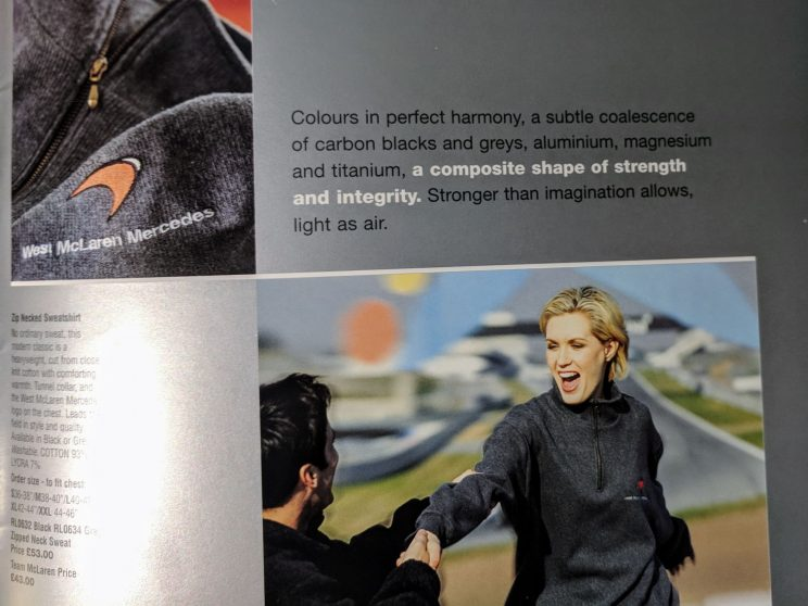 Description of McLaren clothing