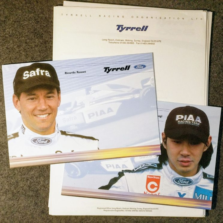 Tyrrell press pack and postcards