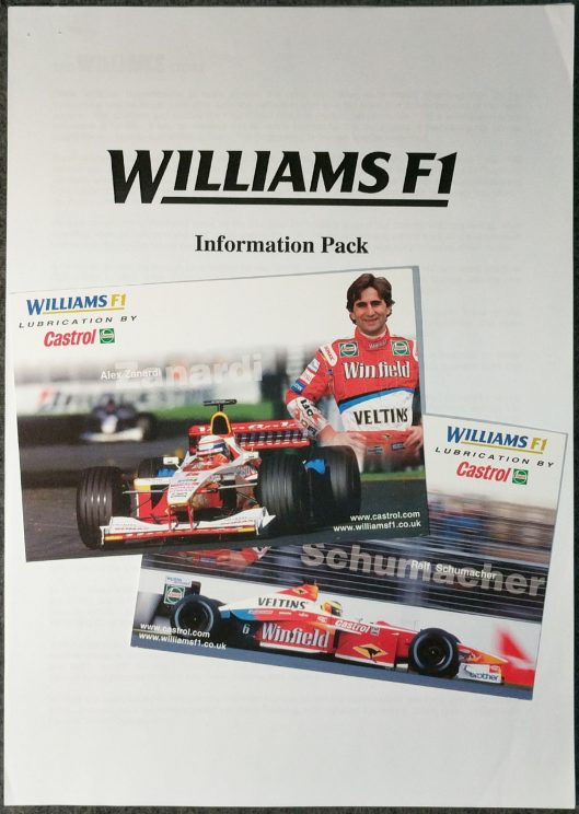 Williams pack and postcards