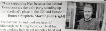 My appearance on a Liberal Democrat leaflet