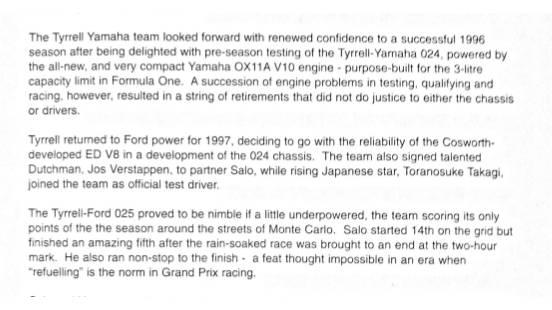 History of Tyrrell extract
