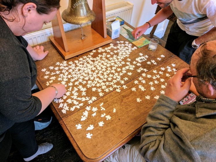 Building a jigsaw in Millcombe House
