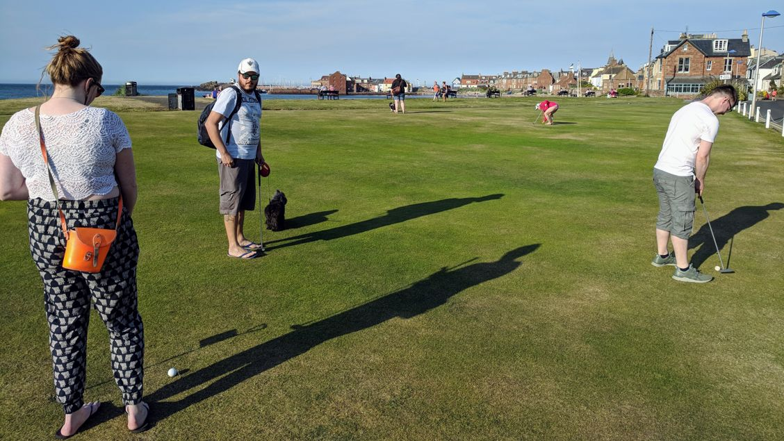 Putting with pals in North Berwick