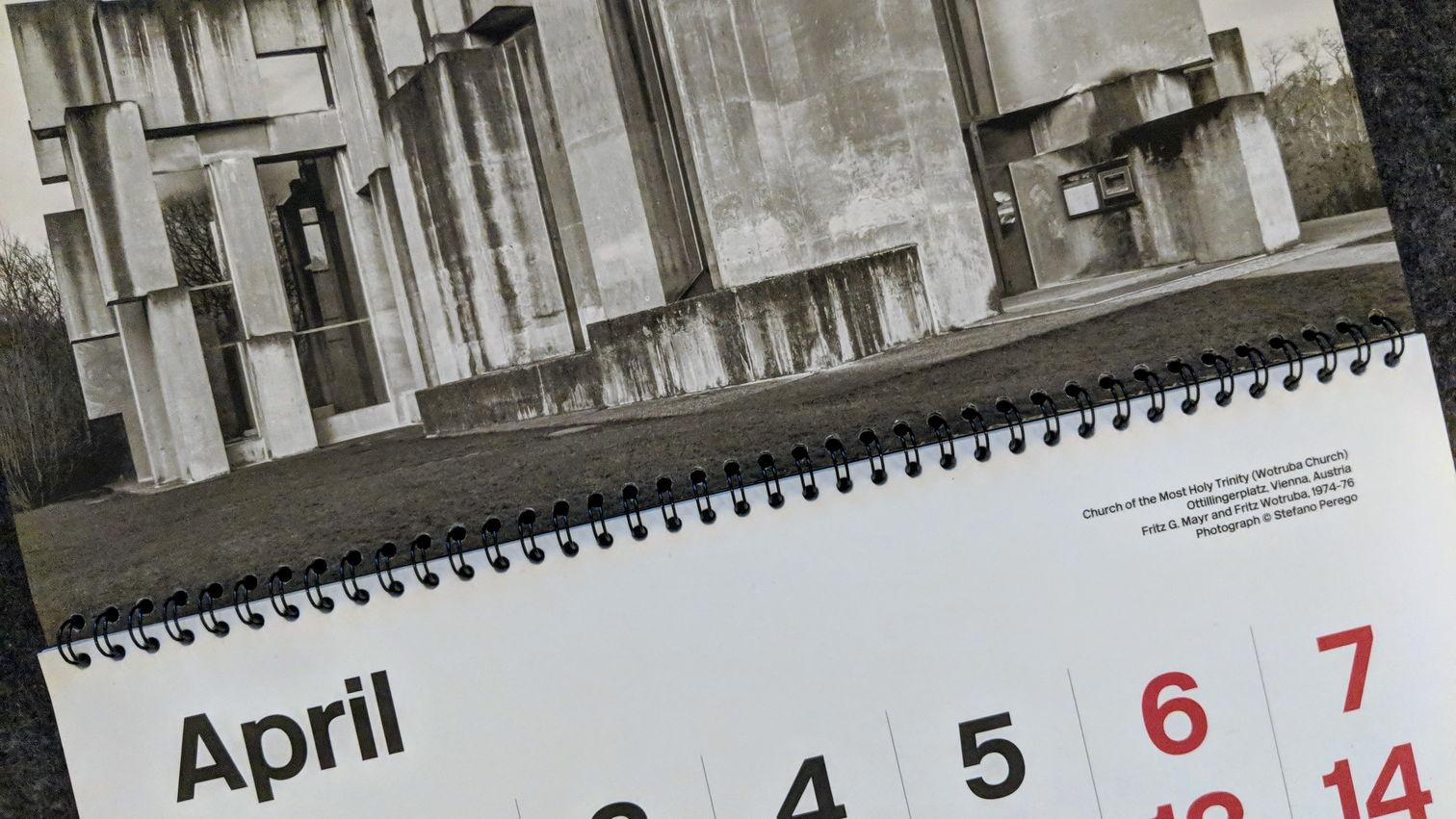 Brutalist Calendar 2019