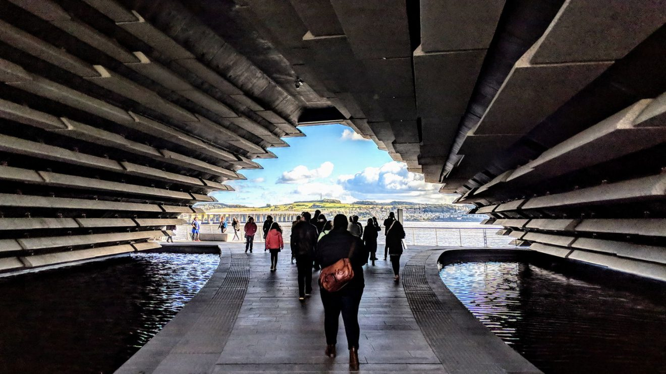 V&A Dundee causeway taking visitors to the river