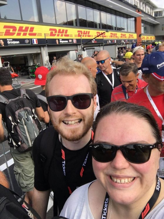 Me and Alex during the pit walk