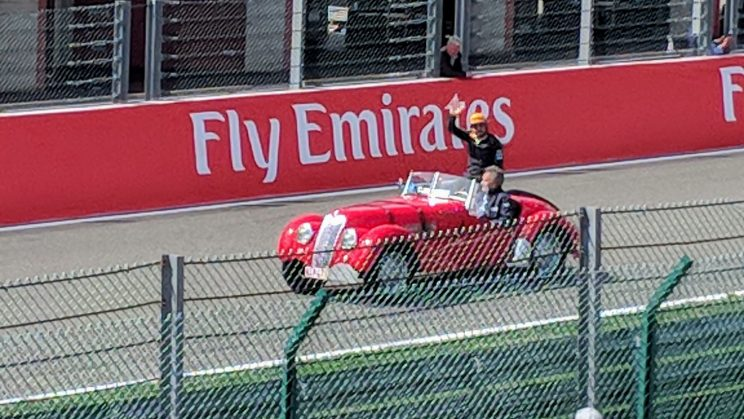 Fernando Alonso during the pre-race driver parade