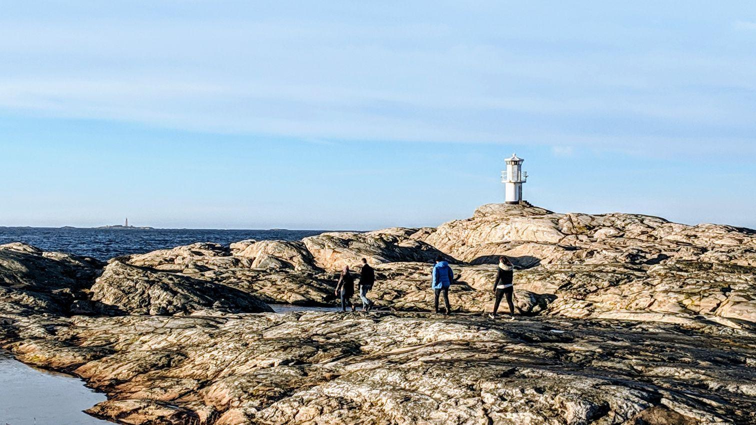 Group walking on Marstrand