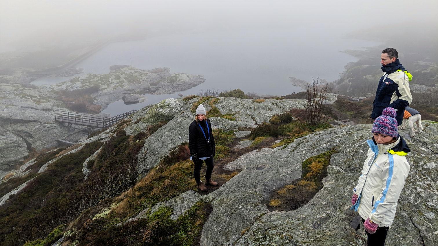 Group standing on rocks at Marstrand