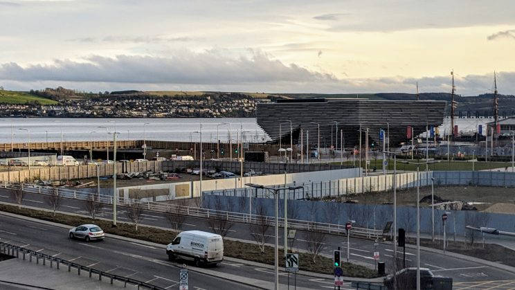 View of V&A Dundee
