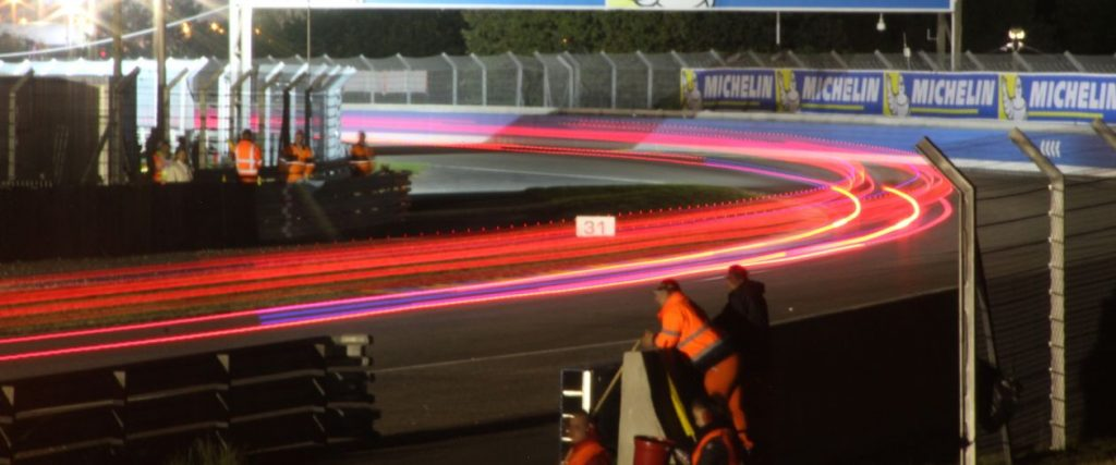 Light trails at Le Mans