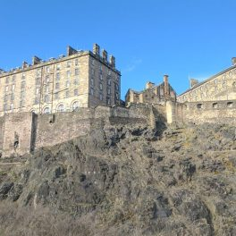 View of Edinburgh Castle from my desk