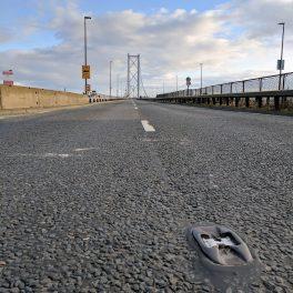 Deserted Forth Road Bridge