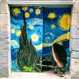 Dundee Open/Close street art - by Skye