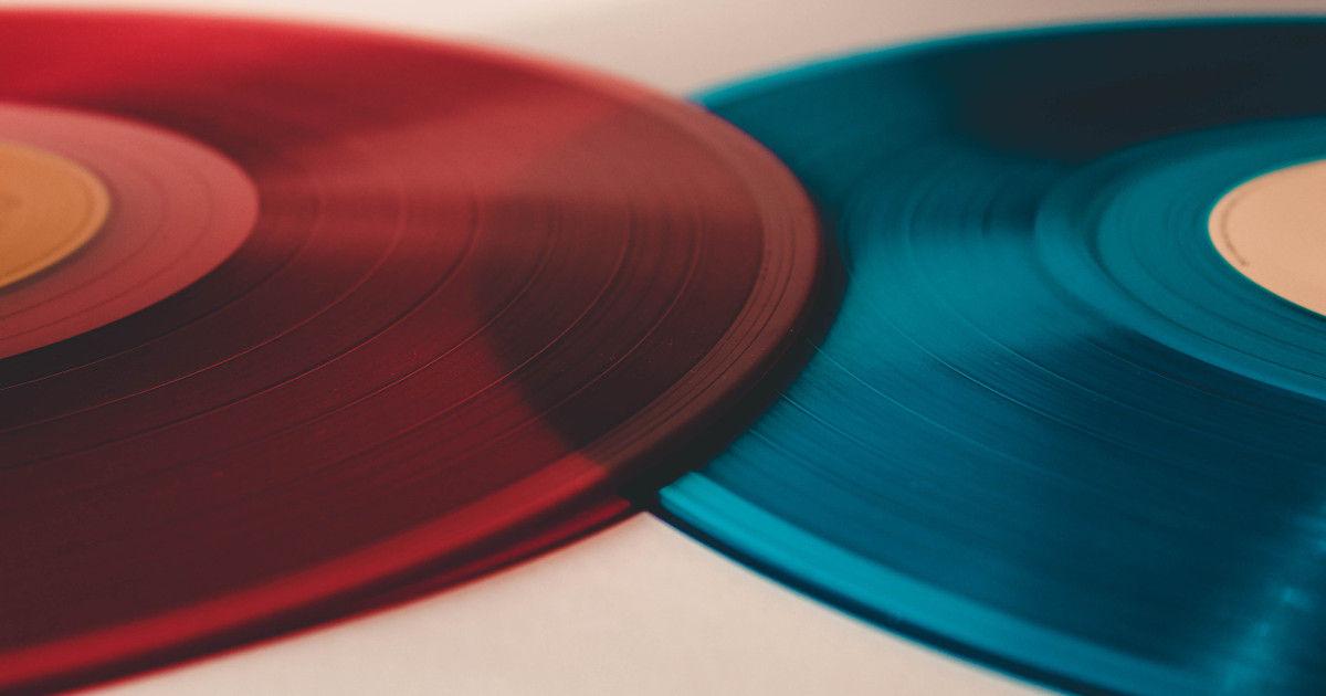 Coloured vinyl records
