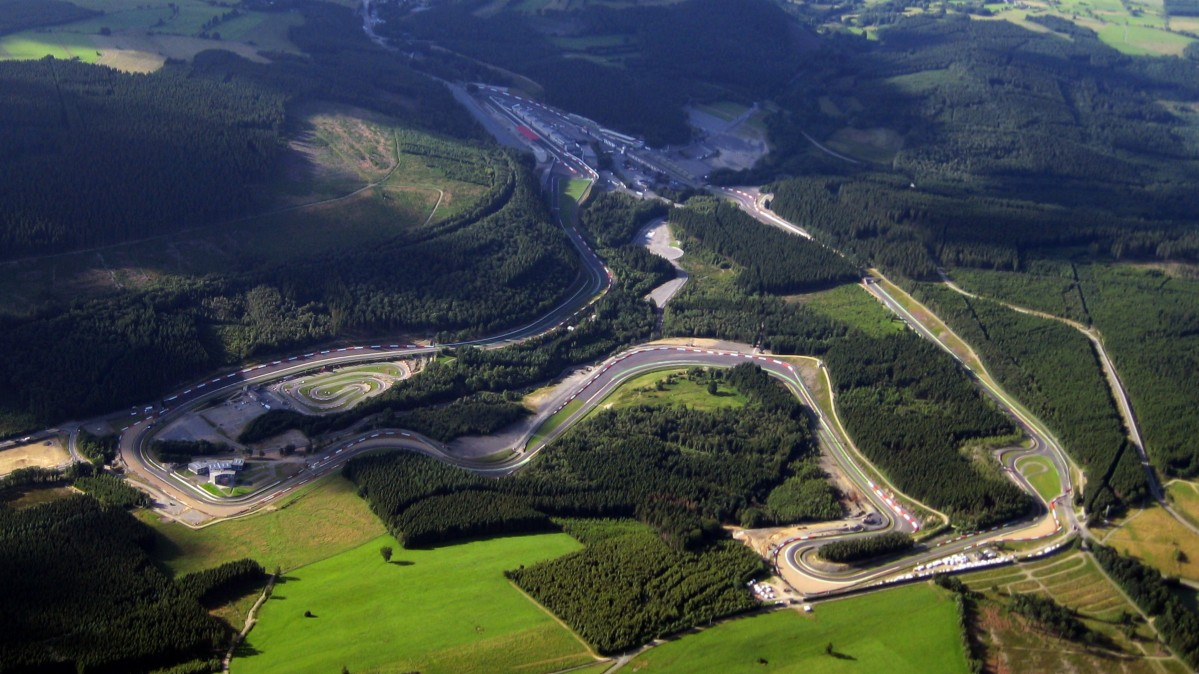 Circuit de Spa-Francorchamps from the air (photo by Nathanael Majoros)
