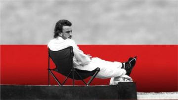 Fernando Alonso on his deckchair