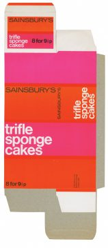 Sainsbury's own brand packaging for trifle sponge cakes