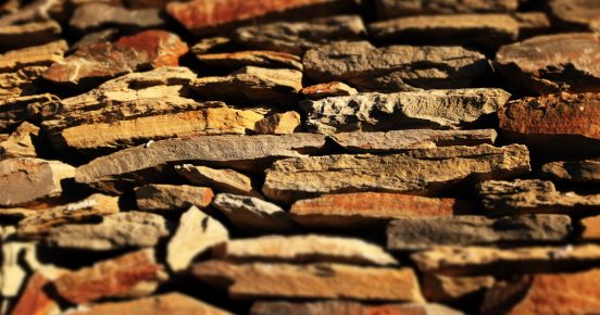 Tilt shift photo of a wall