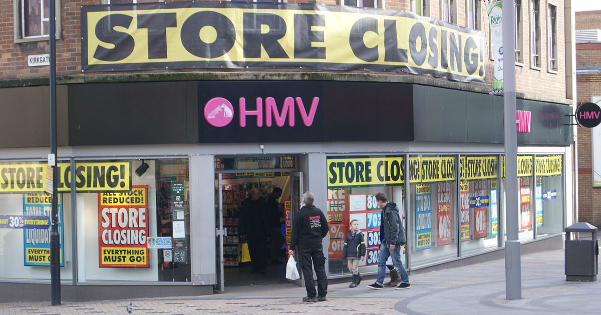 HMV closing down sale
