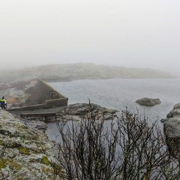 Sea in the mist at Marstrand